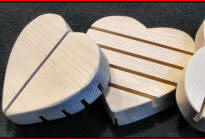 heart shaped wood soap dish