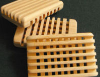 The Max Grid Pine Wood Soap Dish