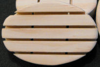 oval shaped pine soap dish