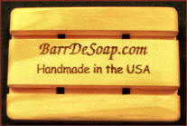 using stamps on wood soap dishes
